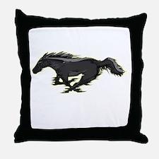 Mustang Running Horse Throw Pillow