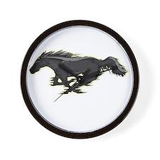 Mustang Running Horse Wall Clock