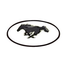 Mustang Running Horse Patches