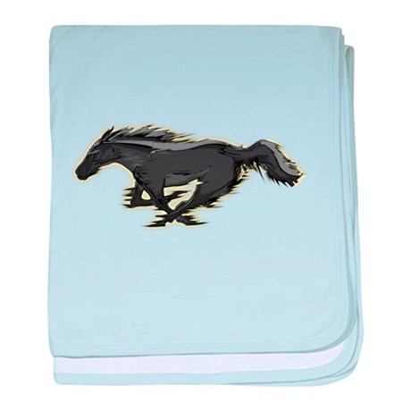 Mustang Running Horse baby blanket