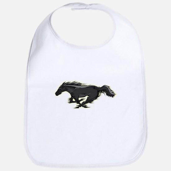 Mustang Running Horse Bib