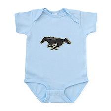 Mustang Running Horse Infant Bodysuit