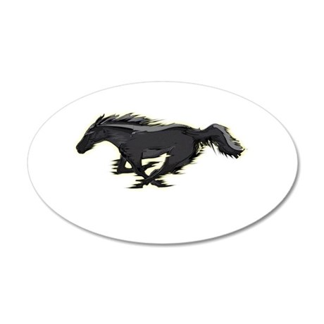 Mustang Running Horse 22x14 Oval Wall Peel