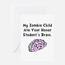 Zombie Child Greeting Card