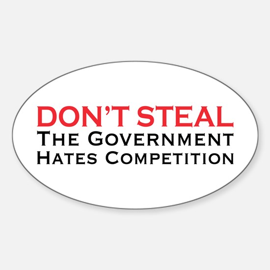 Don't Steal Oval Decal