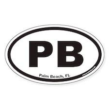 Palm Beach Florida PB Euro Oval Decal