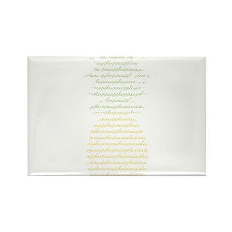 Pineapple Rectangle Magnet (10 pack)