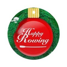 Happy Rowing OARnament (Round)