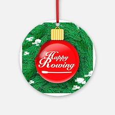 Happy Rowing OARnament (Round)