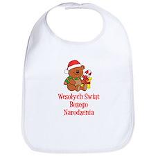 Polish Christmas Baby Bib