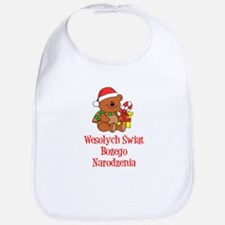 Polish Christmas Baby Bib