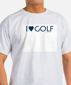 I Love Golf - Ash Grey T-Shirt