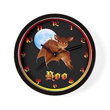 Sweet Halloween Bat Wall Clock