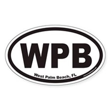 West Palm Beach WPB Euro Oval Stickers