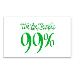 we the people 99% green Decal