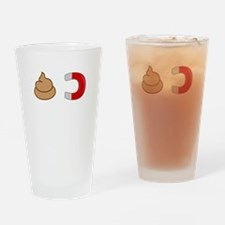 Shit Magnet Drinking Glass