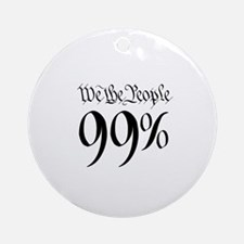 we the people 99% small Ornament (Round)