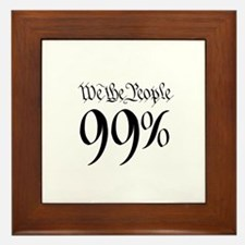 we the people 99% small Framed Tile