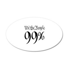 we the people 99% small 22x14 Oval Wall Peel