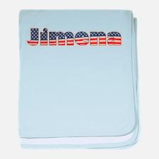 American Jimena baby blanket