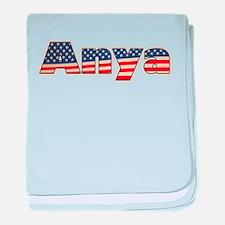American Anya baby blanket