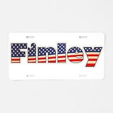 American Finley Aluminum License Plate