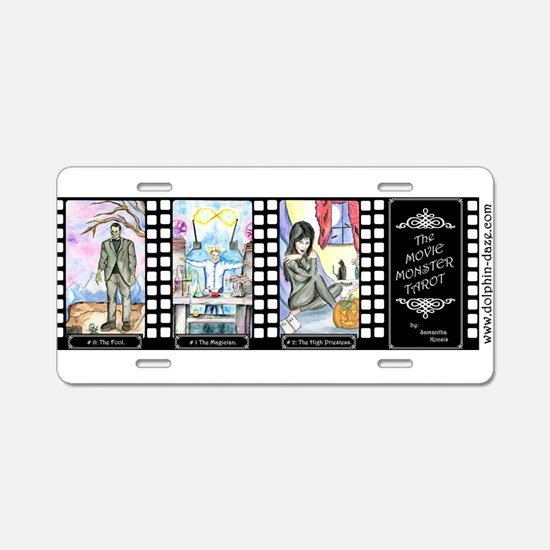 Movie Monster Tarot Aluminum License Plate