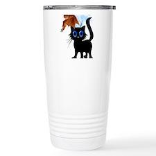 Trick or Treat Black Kitty an Travel Mug