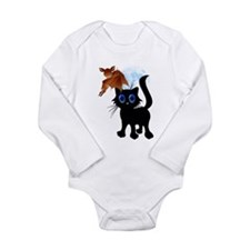 Trick or Treat Black Kitty an Long Sleeve Infant B