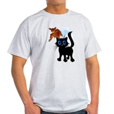 Trick or Treat Black Kitty an T-Shirt