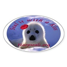 Seal it with a Kiss Oval Oval Decal