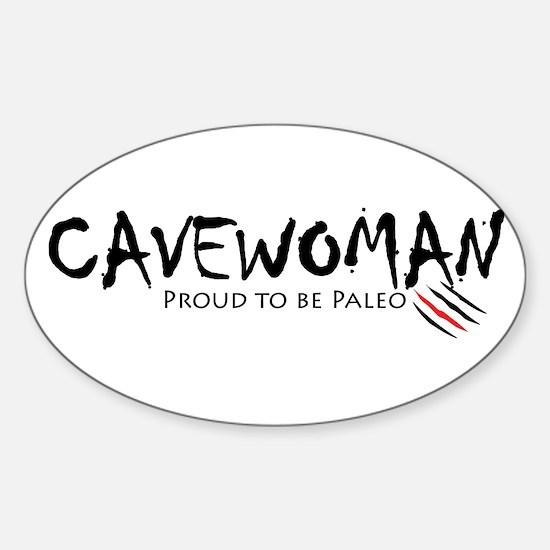 Cavewoman Sticker (Oval)