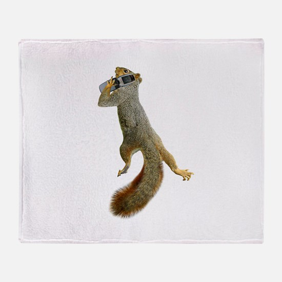 Squirrel Cell Phone Throw Blanket