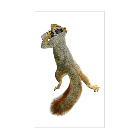 Squirrel Cell Phone Sticker (Rectangle)