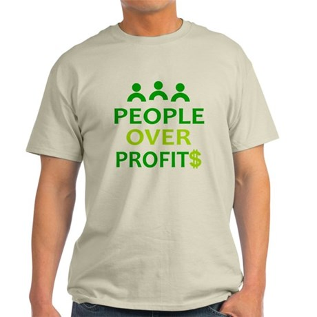 People Over Profits: Light T-Shirt