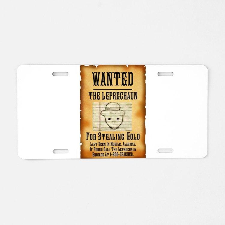 Cute Thief Aluminum License Plate
