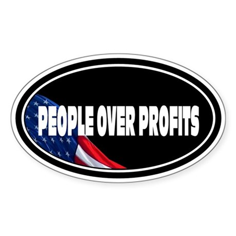People Over Profits: Sticker (Oval)