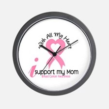 With All My Heart Breast Cancer Wall Clock