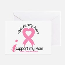 With All My Heart Breast Cancer Greeting Card