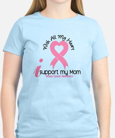 With All My Heart Breast Cancer T-Shirt