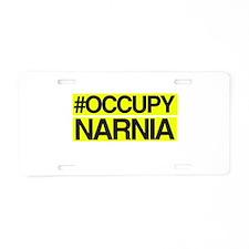 Occupy Narnia Aluminum License Plate