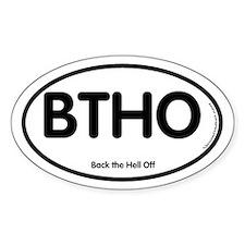 BTHO Oval Bumper Stickers