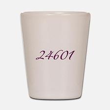 24601 Les Miserable Prisoner Number Shot Glass