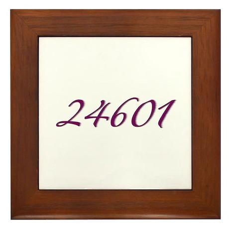 24601 Les Miserable Prisoner Number Framed Tile