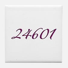 24601 Les Miserable Prisoner Number Tile Coaster