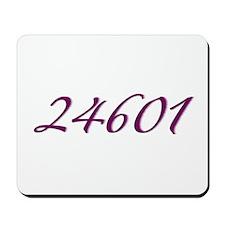 24601 Les Miserable Prisoner Number Mousepad