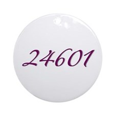 24601 Les Miserable Prisoner Number Ornament (Roun