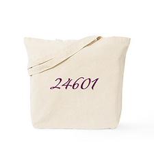 24601 Les Miserable Prisoner Number Tote Bag