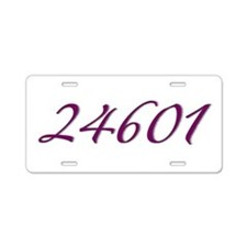 24601 Les Miserable Prisoner Number Aluminum Licen