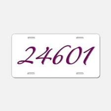 24601 Les Miserable Prisoner Number Aluminum Licen